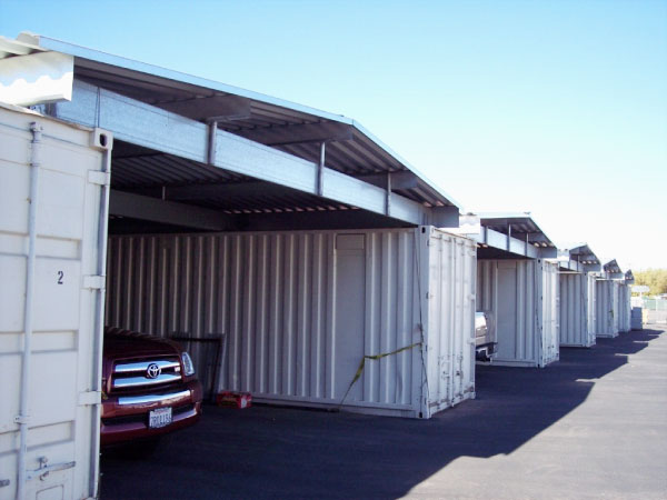 Temporary garage buildings