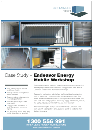 Conatiners Frist_Case Study_v2_Endeavour