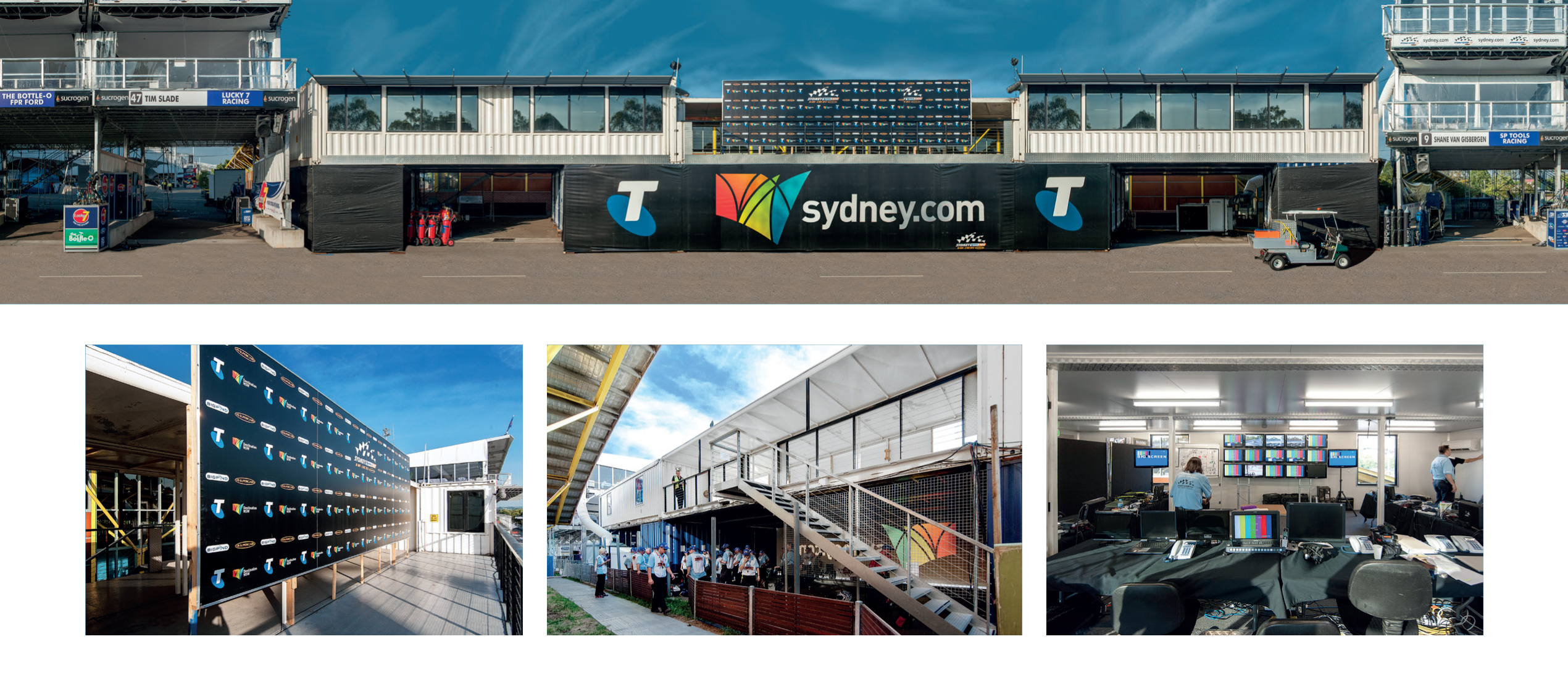 V8 Supercars Media amp Race Control Building Shipping