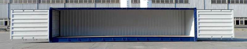 40ft shipping container with doors open
