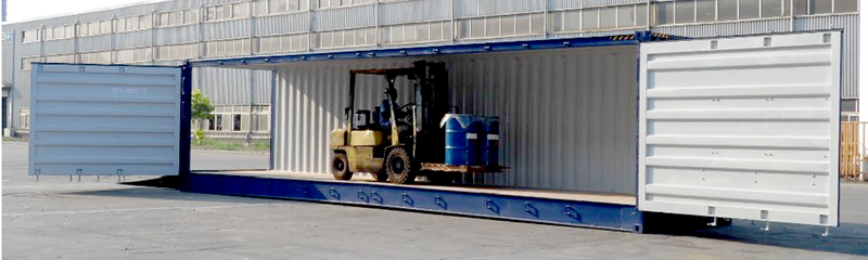 40ft side door container fits a forlift