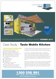 Conatiners First_Case Study_TASTE MOBILE KITCHEN_PR_AWARD