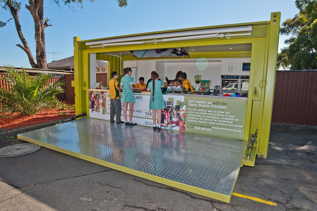 Modified Shipping Container - Taste Mobile Kitchen - Featured Image