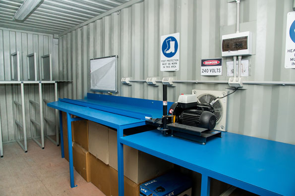 Workshop Built From A 20ft Shipping Container Shipping