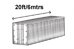 20ft Shipping Container Size