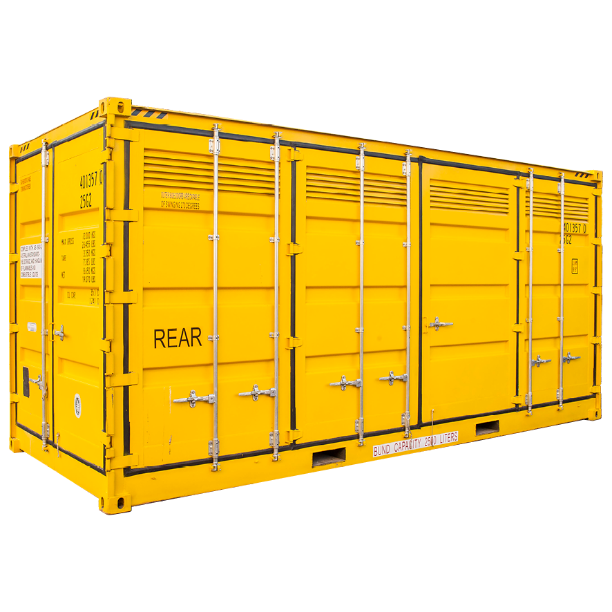 Shipping Container Hire - 20ft Hazardous Goods Side Door High cube
