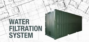 Wet storage modified shipping container