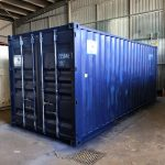 STANDARD STORAGE SHIPPING CONTAINER-Blue 20ft B Grade container